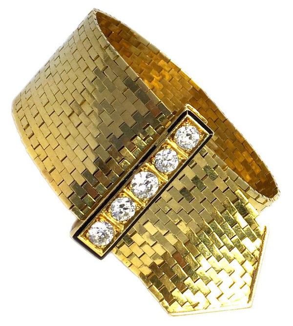 Van Cleef & Arpels Ludo Gold Diamond Bracelet