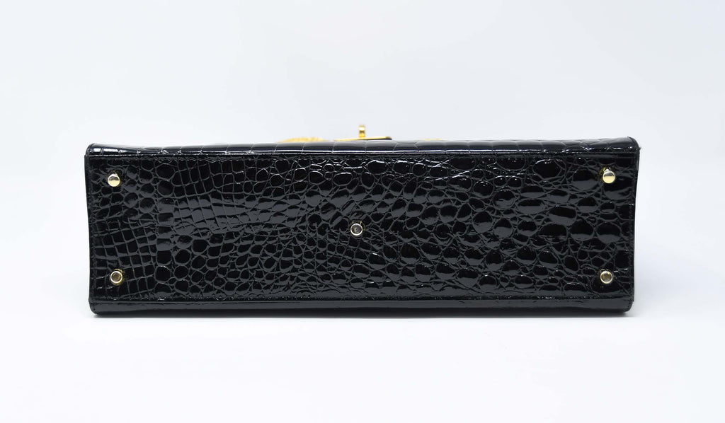 Versace Diana Embossed Crocodile Patent Leather Bag – Iconic Vault 12de886b33d06
