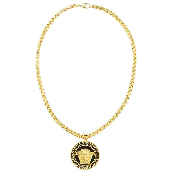 Versace Gold Medusa Medallion Chain Necklace as worn by Bruno Mars
