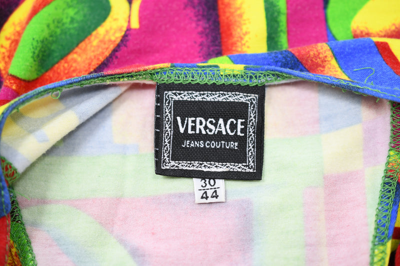 Vintage Versace LOVE Print Knit Jersey Dress