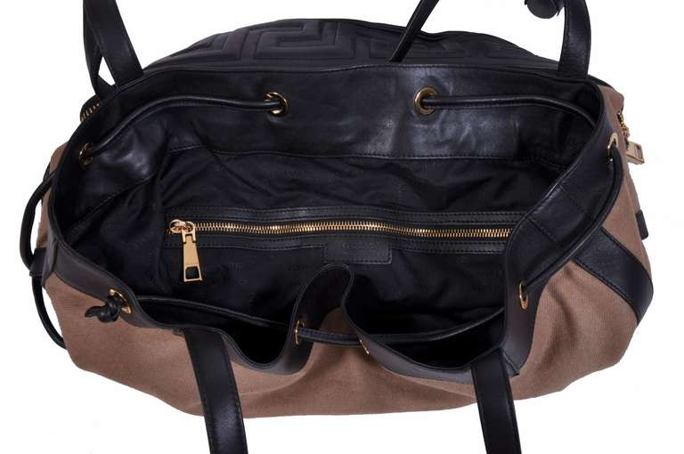 Versace New Men's Foldable Travel Handbag