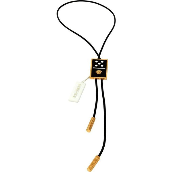 Versace Runway Leather Dice Medusa Pendant Necklace for Men