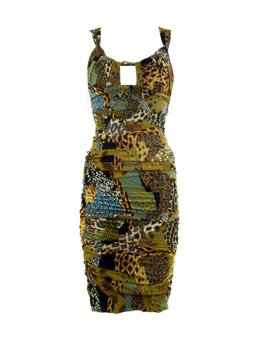 Versace Runway Safari Dress