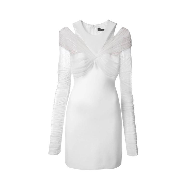 Versace White Mini Dress