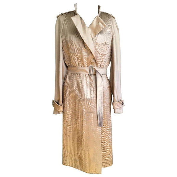 Vintage Tom Ford for Yves Saint Laurent Nude Embroidered Trench