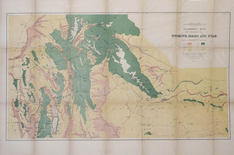 F.V. HAYDEN, ECONOMIC MAP OF PORTIONS OF WYOMING, IDAHO AND UTAH