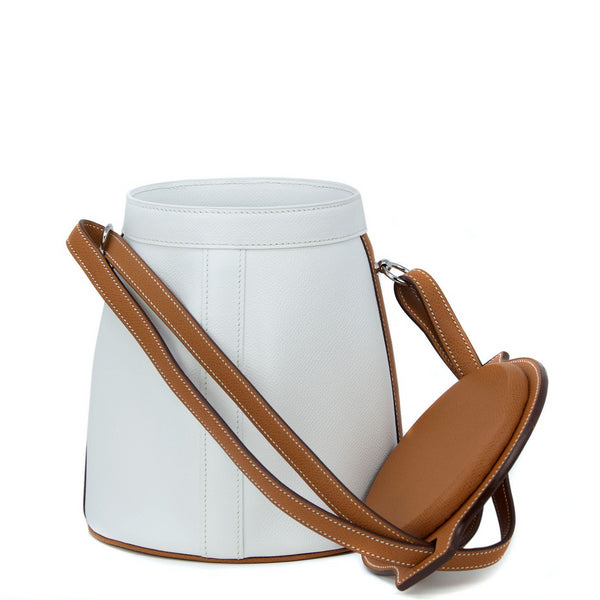 Hermes White Epsom & Barenia Farming Bag