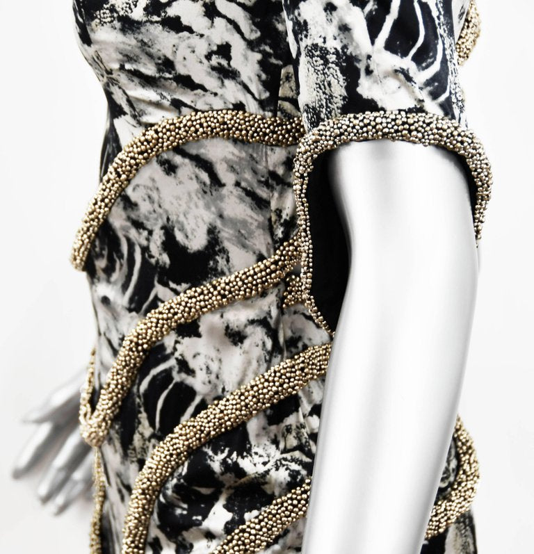Willow Black and Silver Beaded Cocktail Dress