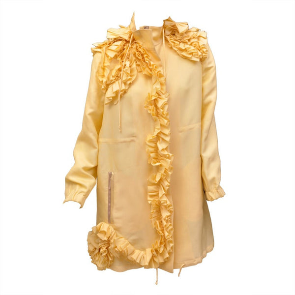Yellow Valentino 100% Silk Coat
