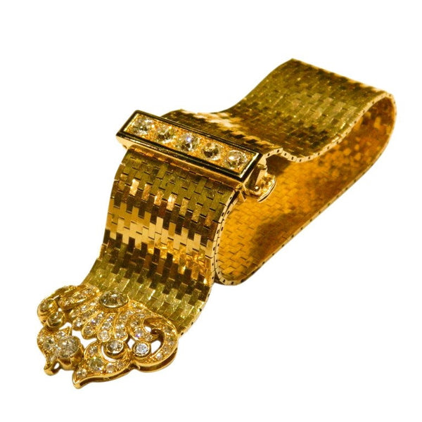Van Cleef & Arpels Sophisticated Enamel Diamond Yellow Gold Bracelet