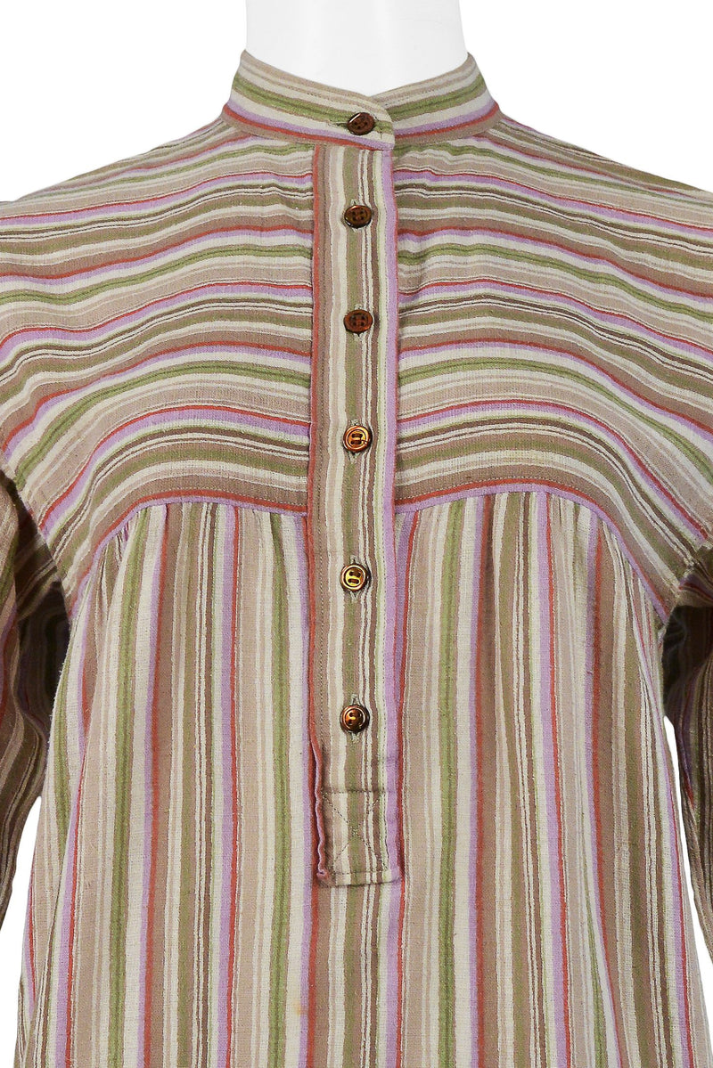 YSL BROWN STRIPE BLOUSE