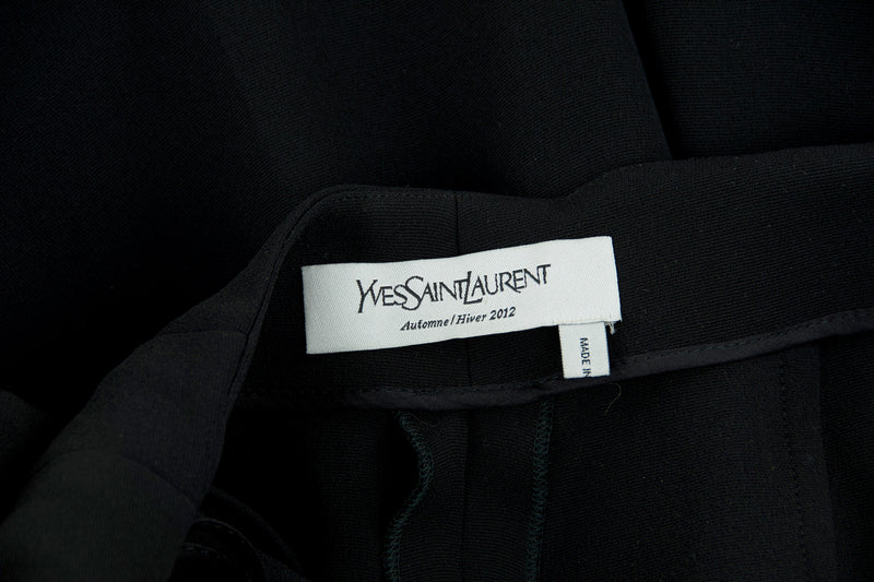 Yves Saint Laurent Black Jumpsuit with Silver Chain Finish