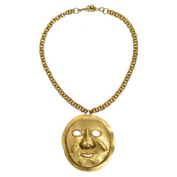 YSL PRE-COLUMBIAN FACE NECKLACE