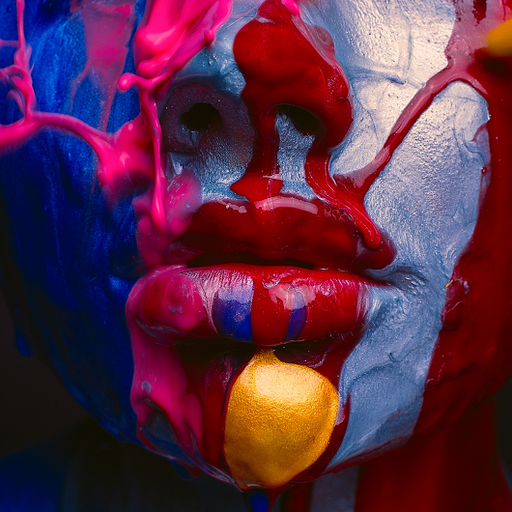 Semi Glow Mouth by Tyler Shields, Digital Print, 2018