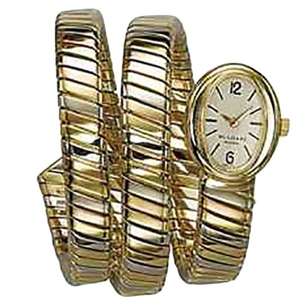 Bulgari Lady's Tricolor Gold Tubogas mechanical Wristwatch
