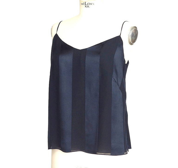 AKRIS pant 3 piece set drawstring top / cami unique navy 8 mint