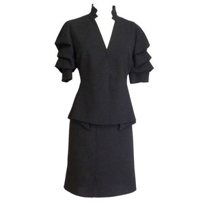 Akris Skirt Suit Uniquely Styled Jacket Detailed Skirt SO Chic 8