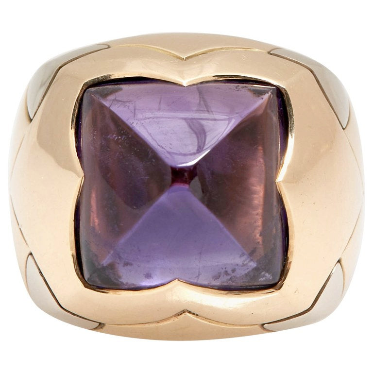 Bulgari Amethyst Gold Ring