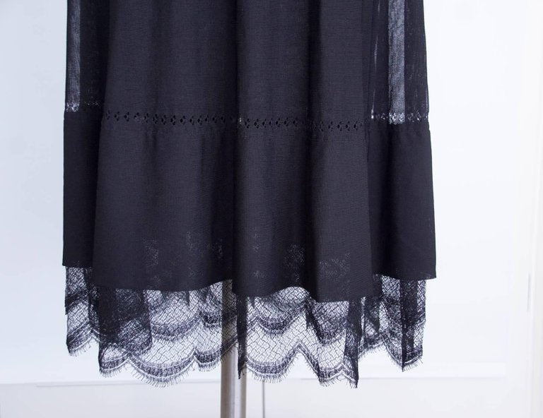 Chanel 07C Dress Cold Shoulder Lace Accent Lovely Fabric Detail 34 / 2