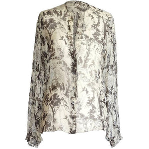 Dolce&Gabbana Top Beautiful Semi Sheer Idyllic Print 40 / 6