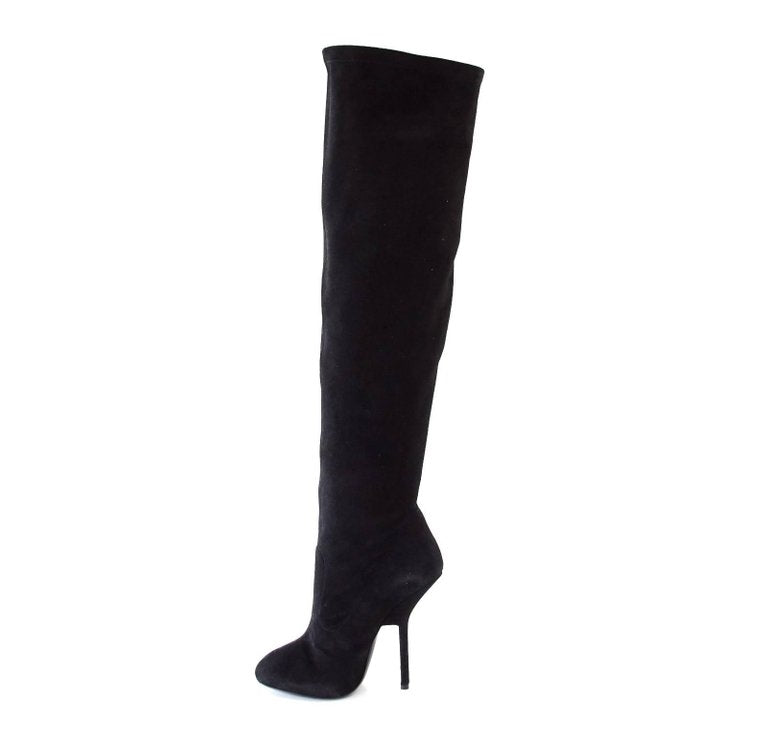 f221393b1de19 Giuseppe Zanotti Over the Knee Suede Dramatic Boot 37 / 7 New w/ Box