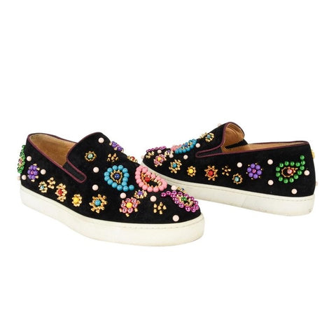 Christian Louboutin Shoe Slip on Sneaker Boat Candy 39 / 9