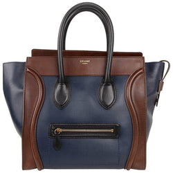 Celine Phantom Medium Tri Colour Navy Brown Black Luggage Tote Bag