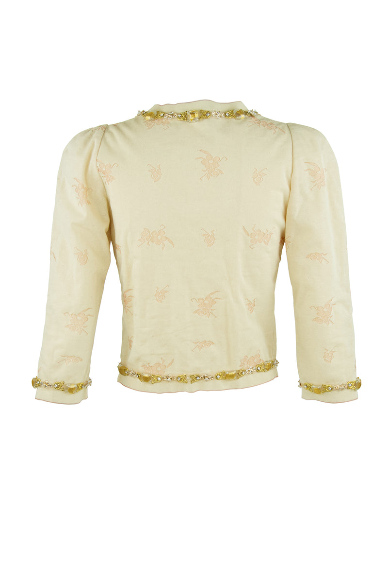 Vintage Chanel Peach & Gold Cardigan
