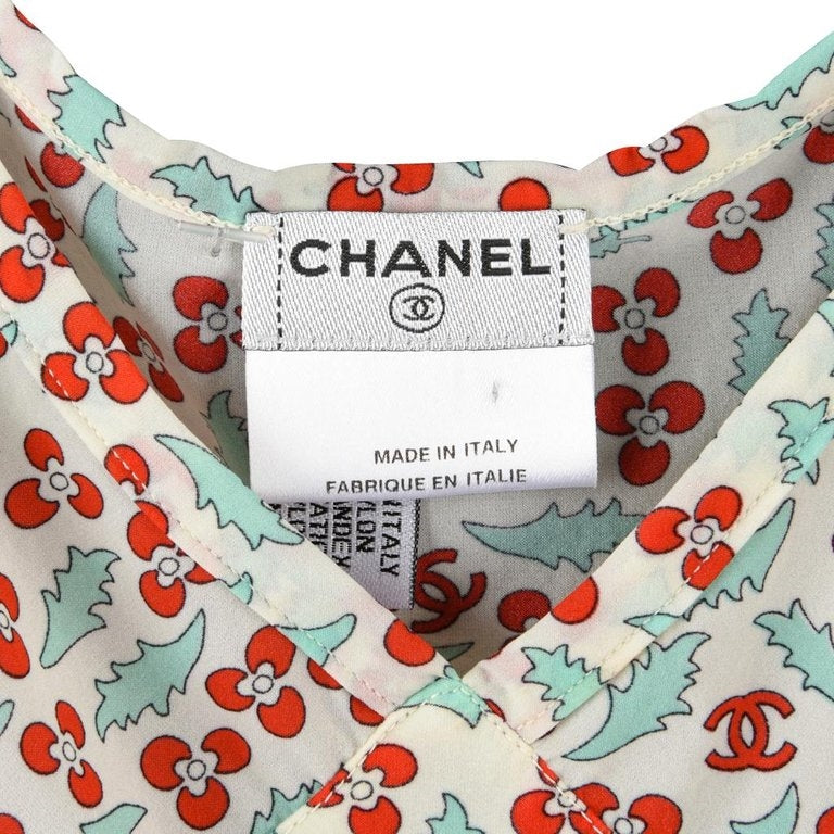 Chanel 04P Top Charming Cherries 40 / 6