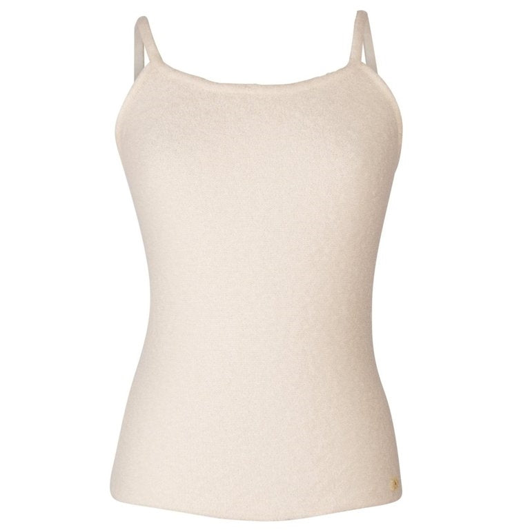 Chanel 02A Top Cream Very Soft Textured Cashmere 42 / 8