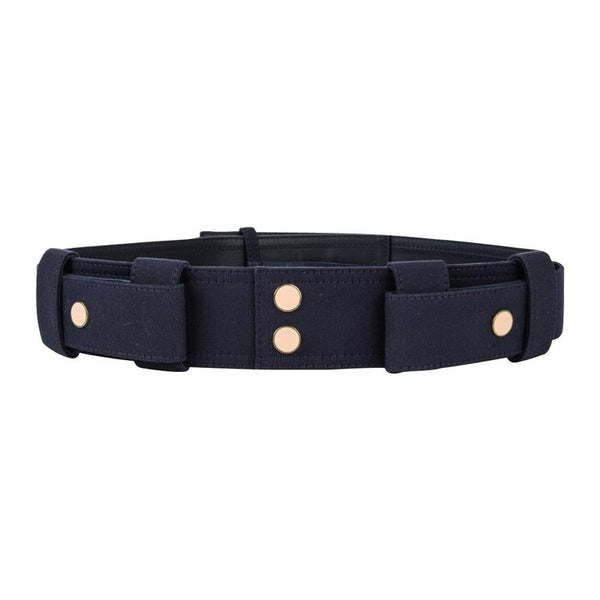 Chloe Belt Marine Blue Twill on Leather S nwt