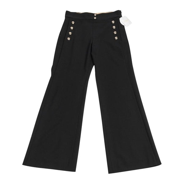 Chloe Pant Black Sailor Style Large Silver Cabochon Buttons 40 / 6 nwt
