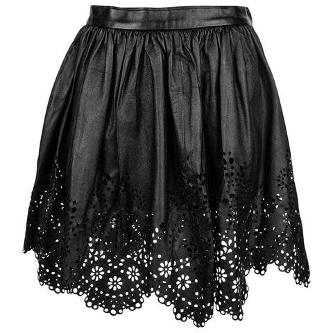 Chloe Skirt Leather Opening Ceremony Laser Cut S New