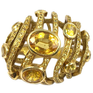 Dome Citrine Gold Ring