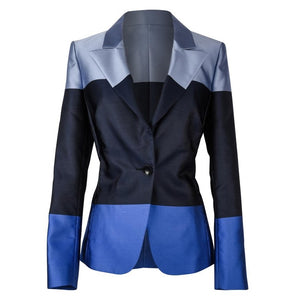Escada Jacket Blue Color Blocked 38 / 8