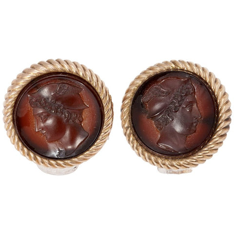 Amber Gold Venus Mercury Cufflinks