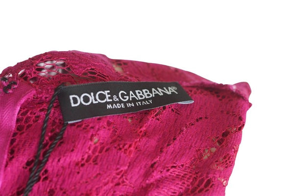 Dolce & Gabbana Hot Magenta Pink Lace Dress IT 42 / US 6