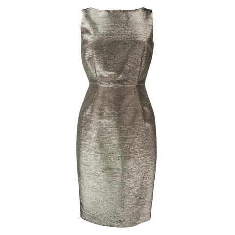 Dolce&Gabbana Dress Striking Silver Rear Swarovski Zipper Pull 40 / 6