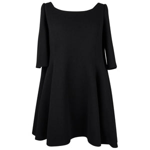 Christian Dior Dress Babydoll Style Elbow Length Sleeve Black Fits 6 to 8