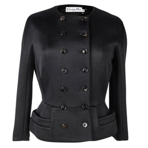 Christian Dior Jacket Black Double Breasted 8 New