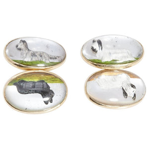 Terrier Dog Gold Cufflinks