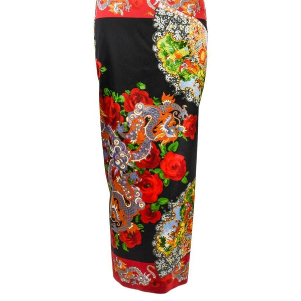 Dolce&Gabbana Collectors Dress Asian Print Rear Detail 40 / 4