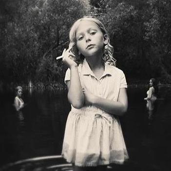 Girl in the Pond by Tyler Shields, Digital Print, 2016
