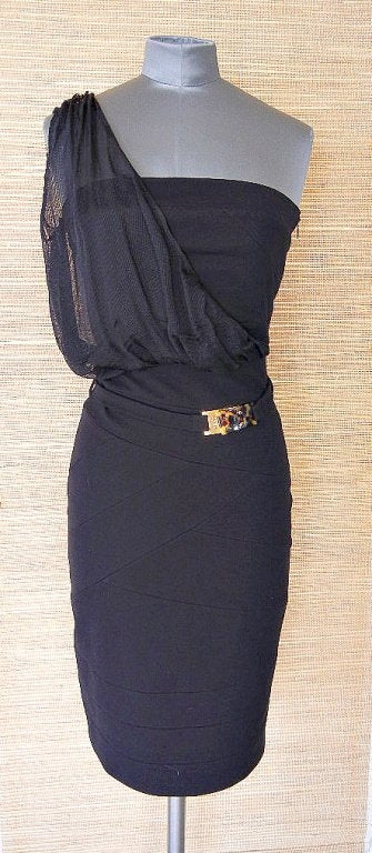 FENDI dress strapless 1 shoulder detail amazing fit 4 NWT