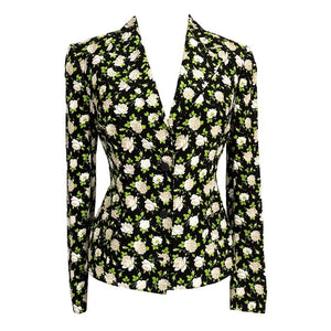DOLCE&GABBANA jacket coveted delightful Spring floral print 46 fits 8 new