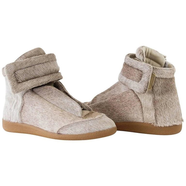Maison Martin Margiela Men's Pony High Top Sneaker Sanded Gray 43 / 10