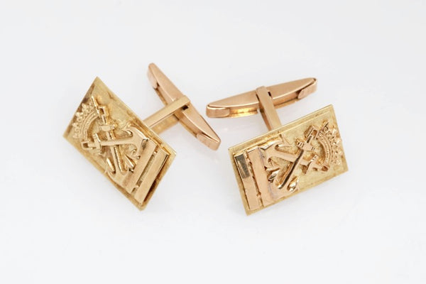 Gold Anchor Cufflinks