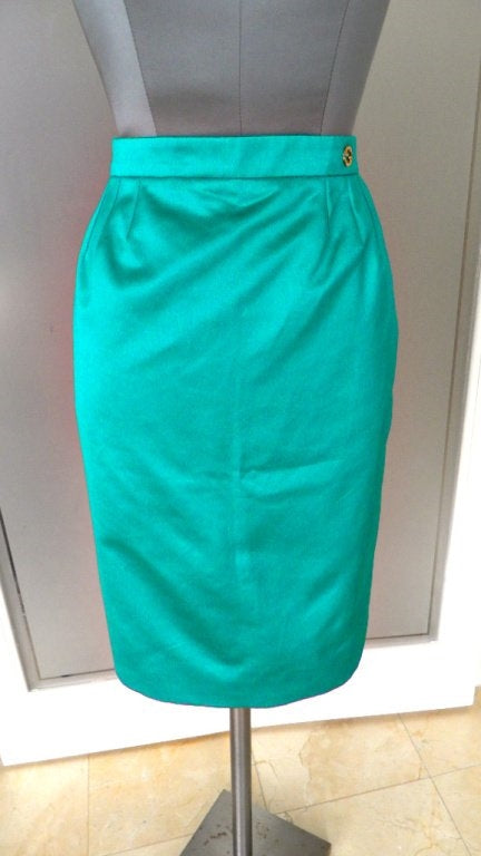Gucci Skirt Emerald Toned Green 40 / 6 nwt