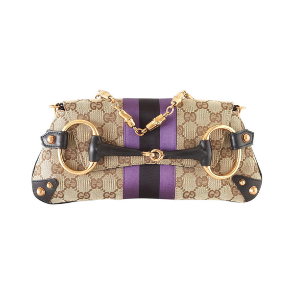 Gucci Bag Web Clutch Shoulder Tom Ford Monogram Rose Gold Horse Bit