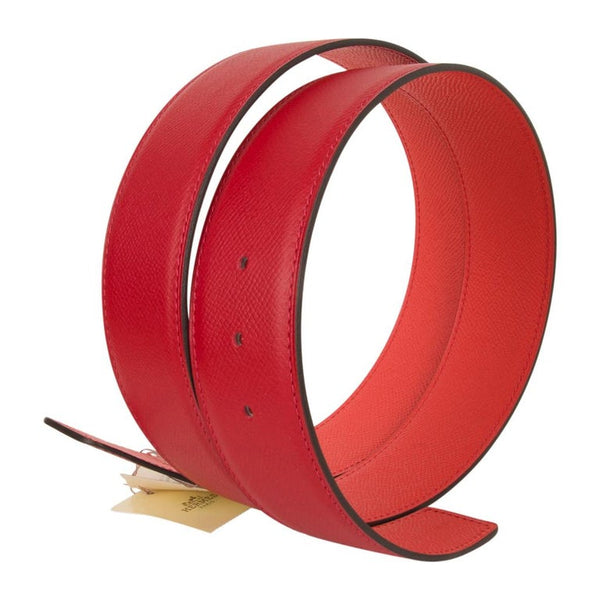 Hermes Belt Constance 42mm Rouge Casaque and Rose Jaipur Brushed Palladium 95